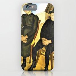 Gaston and his Sister - Gustave Van de Woestijne iPhone Case