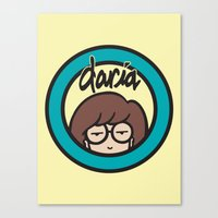 daria Canvas Prints featuring Daria Symbol by Marianna