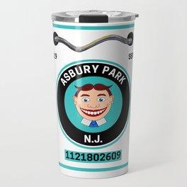 Asbury Park New Jersey Beach Badge Travel Mug