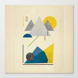 Triangle polygon minimal design poster print Canvas Print