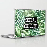 tupac Laptop & iPad Skins featuring Serial Chiller by Text Guy
