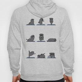 Black Pug Yoga Hoody