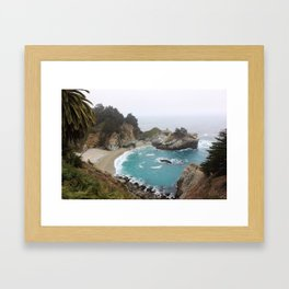 Foggy Day in Big Sur Framed Art Print
