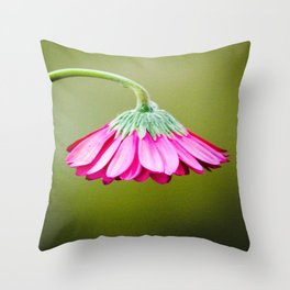 Pink Drooping Flower | Nadia Bonello Throw Pillow