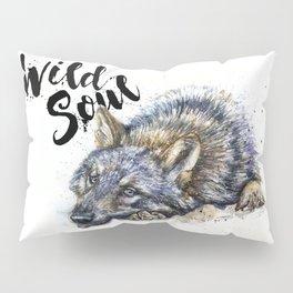 Wolf watercolor painting Wild Soul Kostart Pillow Sham