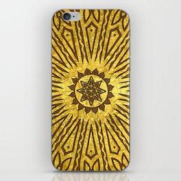 ozorahmi copper mandala iPhone Skin