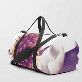 Beauty in a Flower Duffle Bag