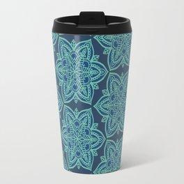 Teal Mandalas Travel Mug
