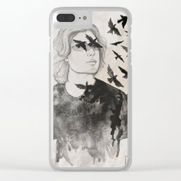 Fly away Clear iPhone Case