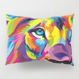 Colored Lion Pillow Sham