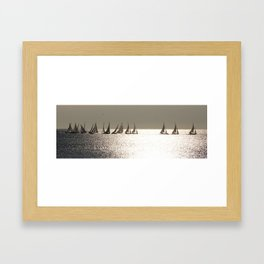 Sailboats at Nice France Framed Art Print