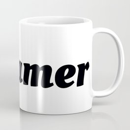 Dreamer in Black Coffee Mug