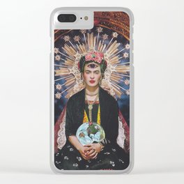 Queen Frida Clear iPhone Case