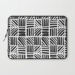Weave Pattern - Black Laptop Sleeve
