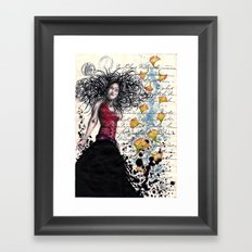 Curley Q Framed Art Print