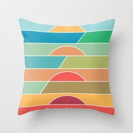 4 Degrees Throw Pillow
