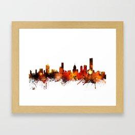 Melbourne Australia Skyline Framed Art Print