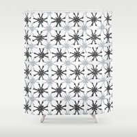mid century Shower Curtains featuring Mid Century Modern #1 by Bird Junker