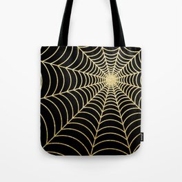 Spiderweb | Gold Glitter Tote Bag