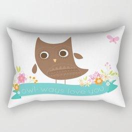 Owlways love you owl Rectangular Pillow