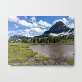 Mountain Bliss in Summer Metal Print