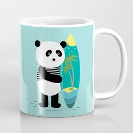 Surf along with the panda. Coffee Mug