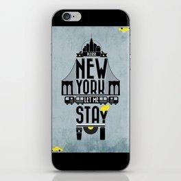 New York prayer iPhone Skin