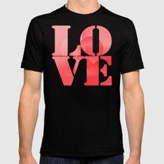 Danish Heart Love Black Mens Fitted Tee MEDIUM