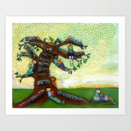 Tree of Books Art Print