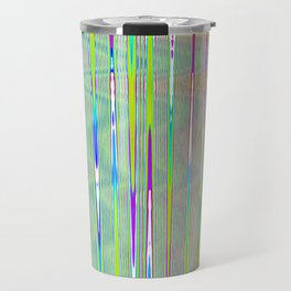 rainbow static Travel Mug