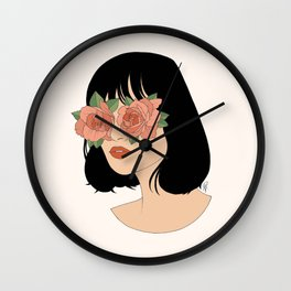 Blinded By Beauty Wall Clock