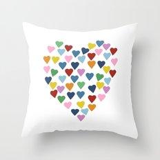 Hearts Heart Throw Pillow