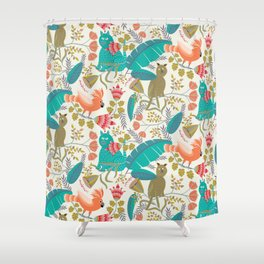 Playing Jungle Shower Curtain