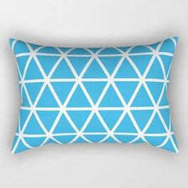 Blue Triangle Pattern 3 Rectangular Pillow