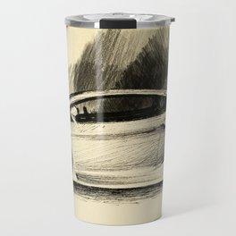 Aventador car charcoal ink Sketch old paper Travel Mug