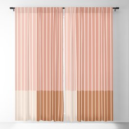 Color Block Line Abstract XVI Blackout Curtain