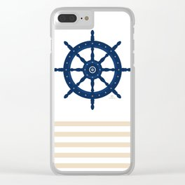AFE Nautical Wheel 2019 -2 Clear iPhone Case