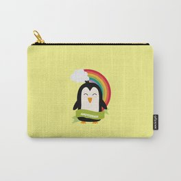 Penguin Rainbow from Amsterdam T-Shirt Carry-All Pouch