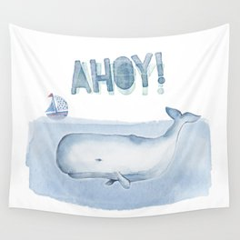 Ahoy! from a Sperm Whale Wall Tapestry