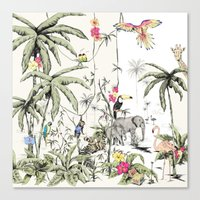 jungle Canvas Prints featuring Jungle by Annet Weelink Design