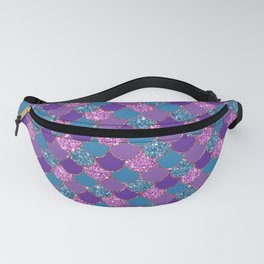Pink Purple Blue Mermaid Scales Glitter Colorful Fanny Pack