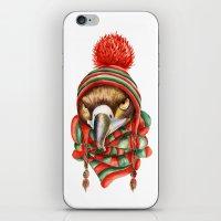 hawk iPhone & iPod Skins featuring Hawk by Julia Badeeva