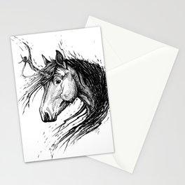 Shaggy Unicorn Stationery Cards