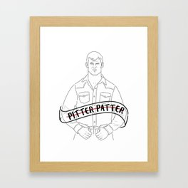 Pitter Patter Let's Get at 'er Framed Art Print