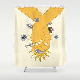 Everything Revolves Around Us Shower Curtain