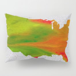 Colorful Art USA Map Pillow Sham