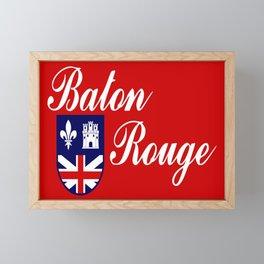 flag of baton rouge Framed Mini Art Print