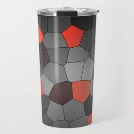red and black mosaic Travel Mug