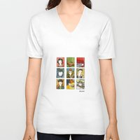 twin peaks V-neck T-shirts featuring Twin Peaks by Steven Learmonth