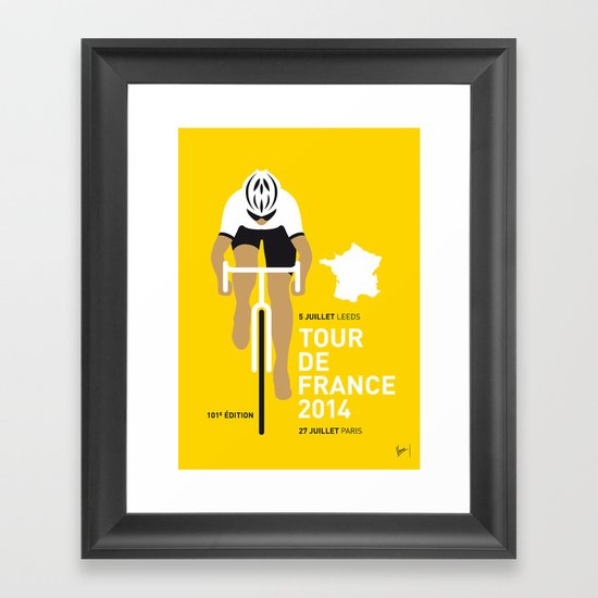 My TOUR DE FRANCE Minimal Poster Framed Art Print